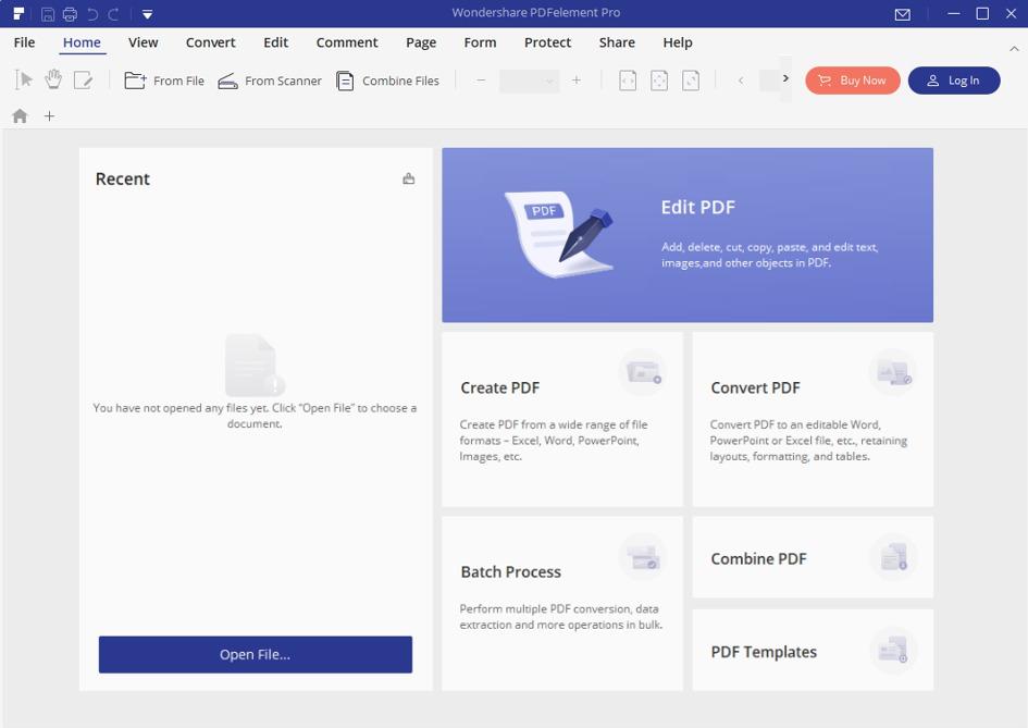 pdfelement homepage