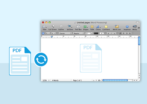 PDF to Pages: Convert PDF to iWork Pages on Mac