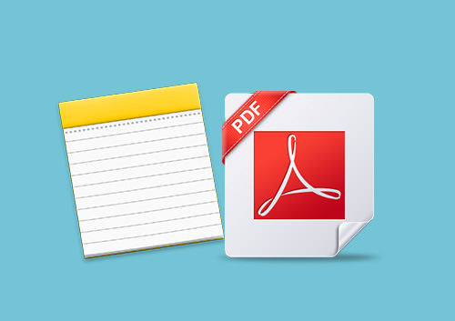 How to Handle PDF with Notes App on Mac OS X 10.11 El Capitan