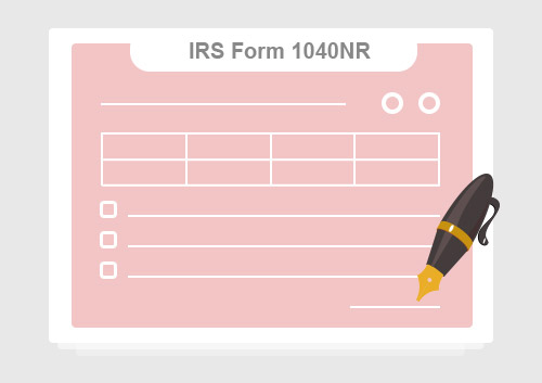Irs Form 1040nr Read The Filling Instructions Before Filing It