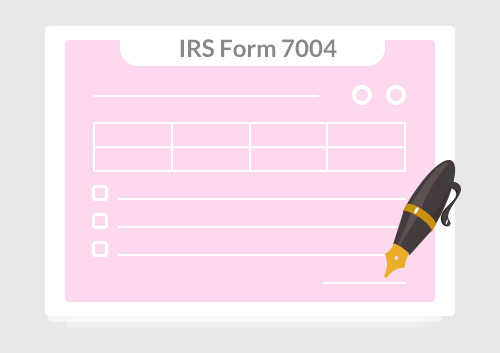 instructions for how to fill in irs form 7004 | wondershare pdfelement