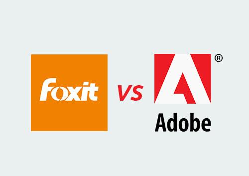 Foxit PhantomPDF vs Adobe Acrobat