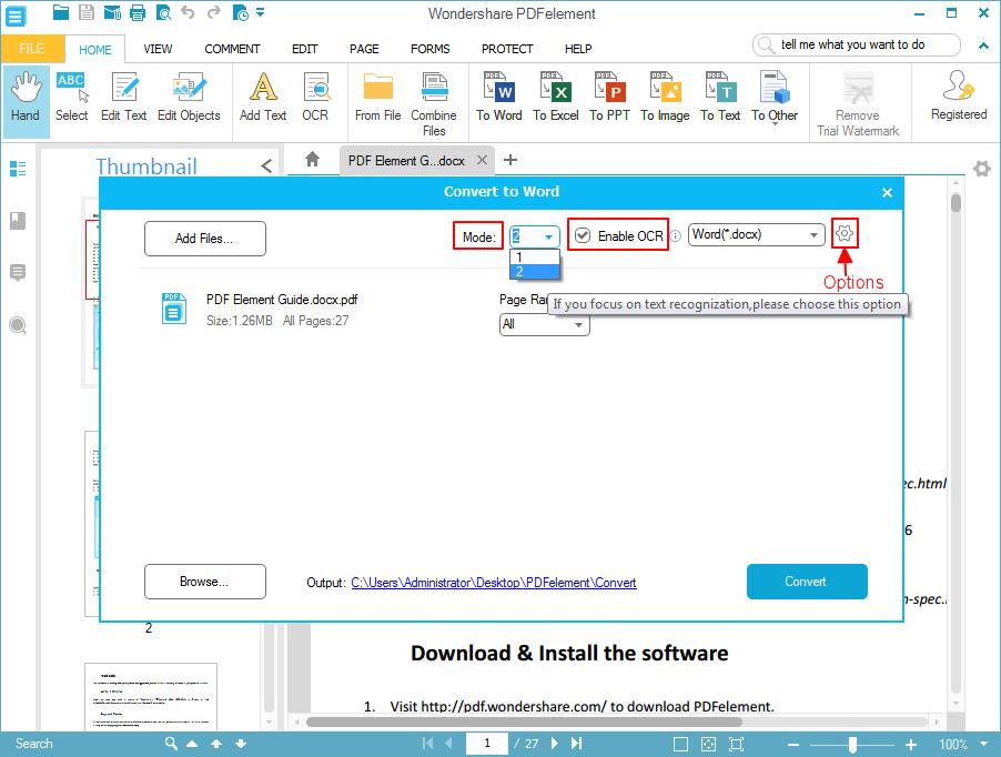 converti pdf scansionati