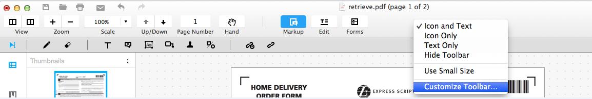 personalizar barra de ferramentas 1
