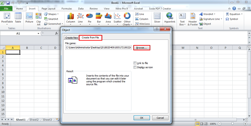 how to open pdf in excel