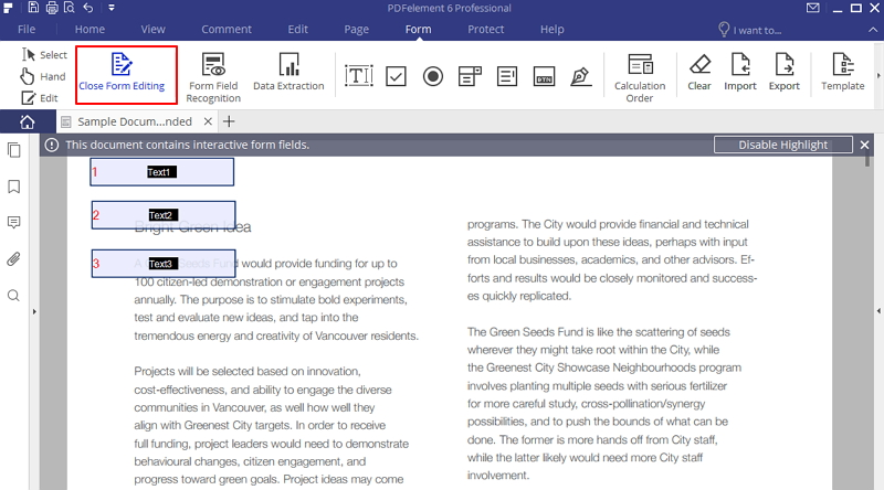 convert pdf to fillable form
