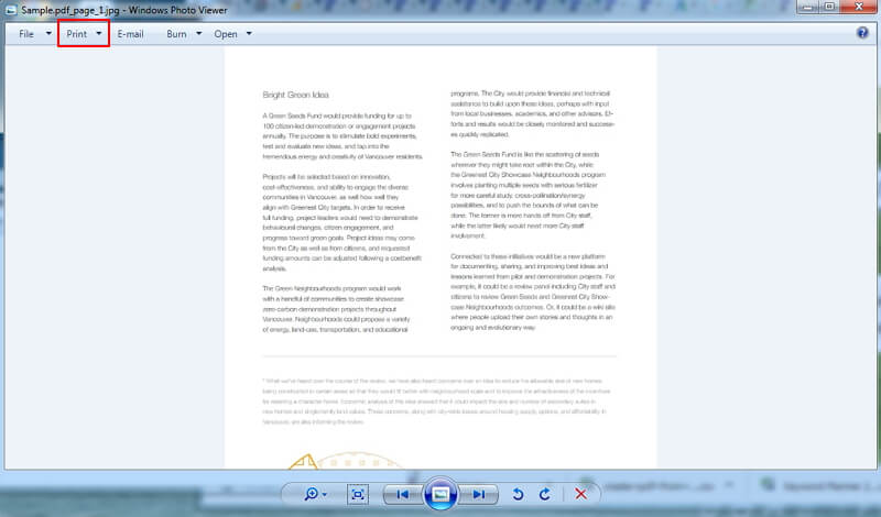 comment convertir jpg en pdf sur Windows 7