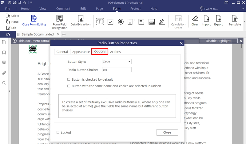 convert existing pdf to fillable form