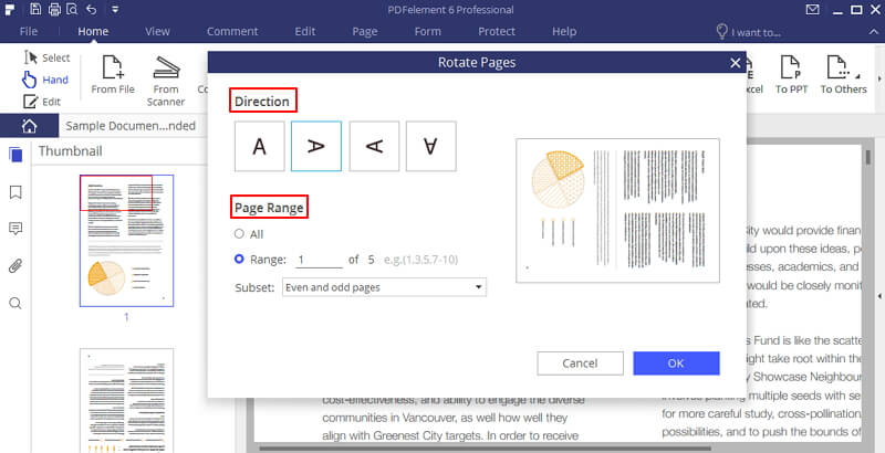wie Sie ein gedrehtes pdf speichern