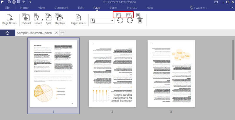 how to rotate one page in pdf