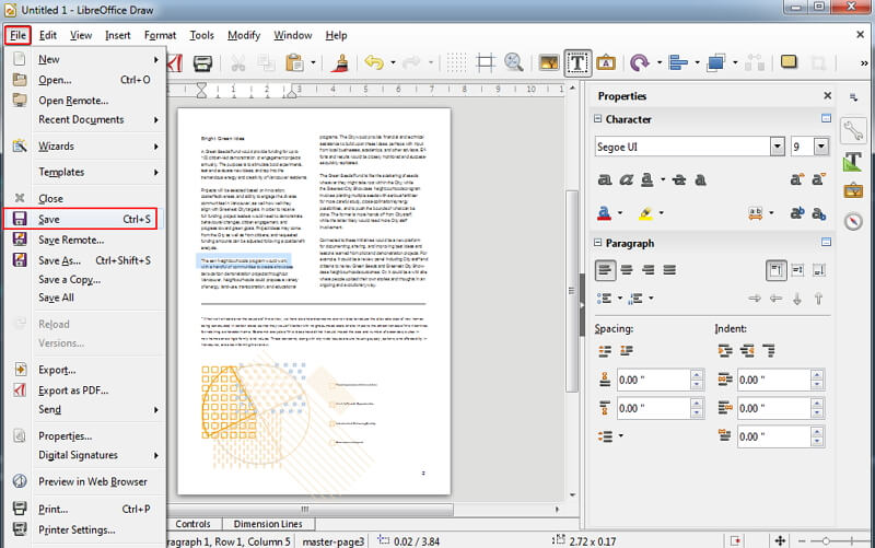 import pdf to libreoffice