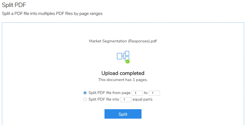 split pdf into separate files