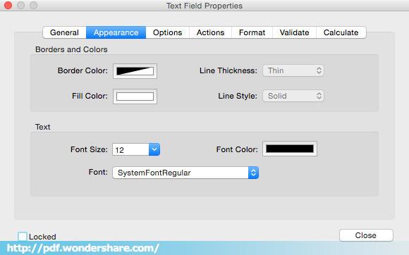 create PDF form in Mac OS X