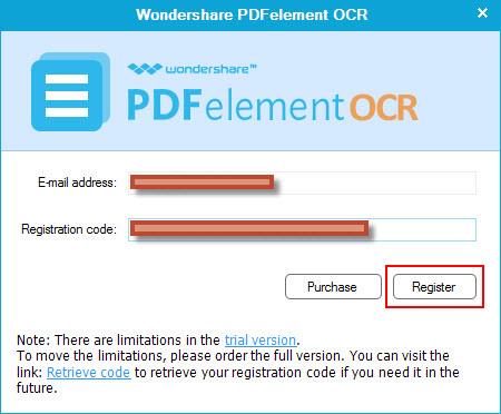PDF OCR registration