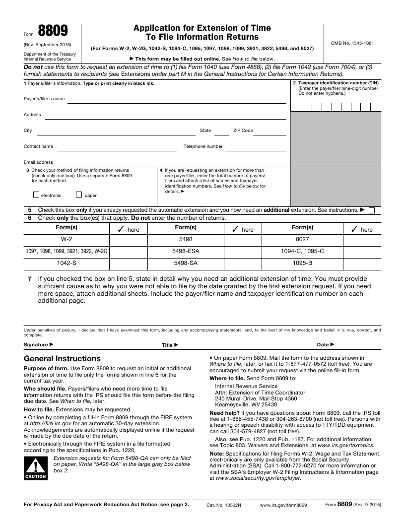 Tax form magic to solve your tax trouble irs form 8809 falaconquin