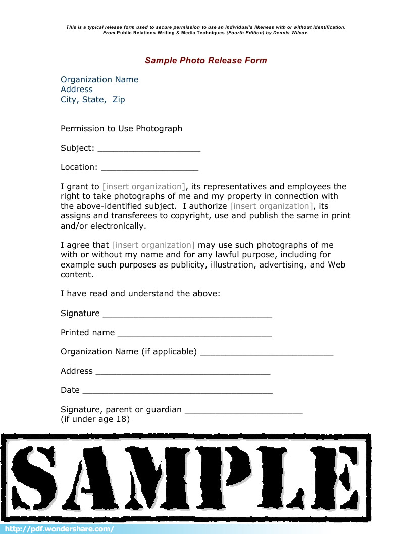 Doc12751650 Photography Release Form Why You Should Have a – Photo Copyright Release Forms