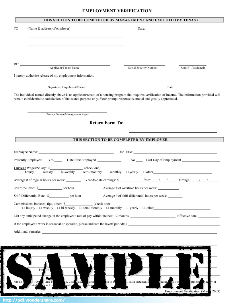 Good Employment Verification Template 76 Employment Verification Form Empverify Employment  Verification Template In Employment Verification Form Sample