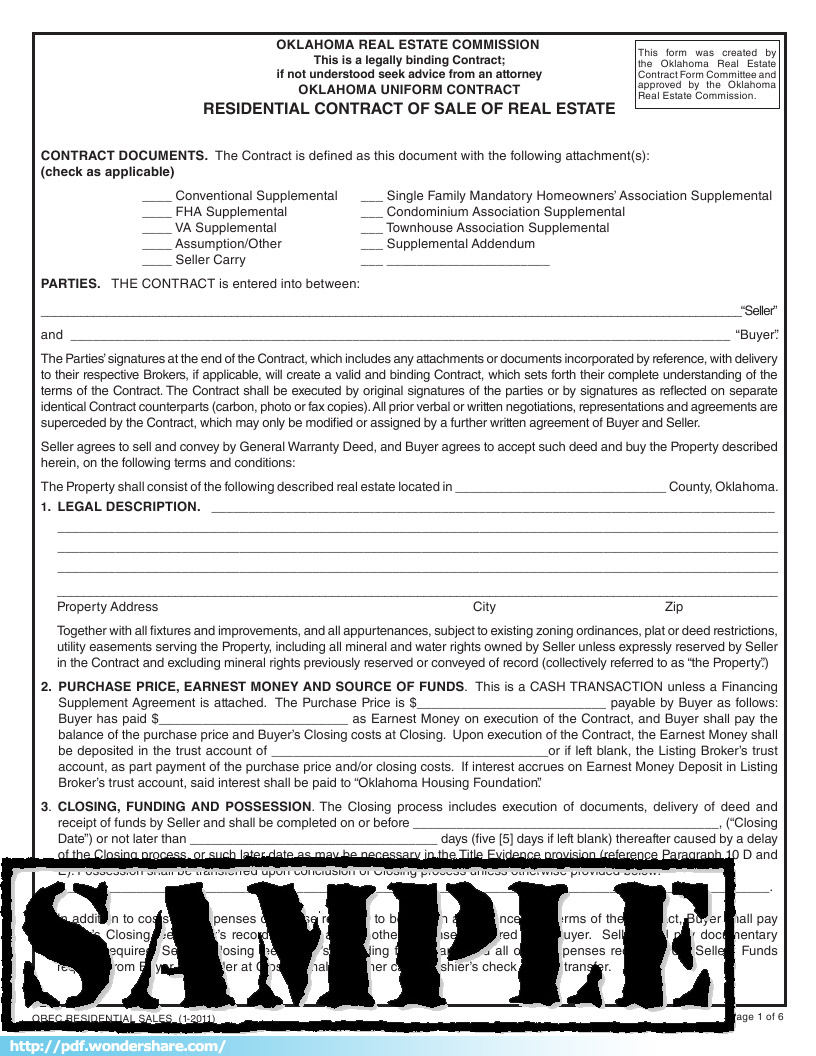 Real Estate Contract Free Download Create Edit Fill Print – Real Estate Contract Template