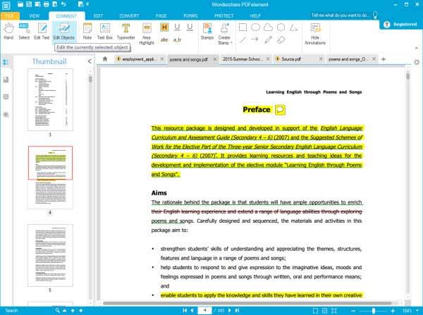 edit PDF files