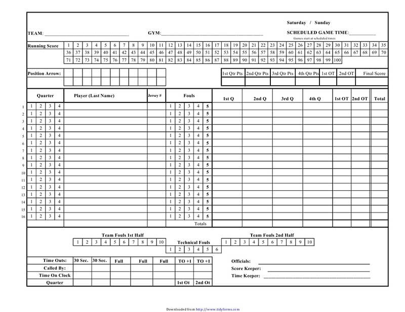 Bowling Score Sheet Excel Templates  VisualbrainsInfo
