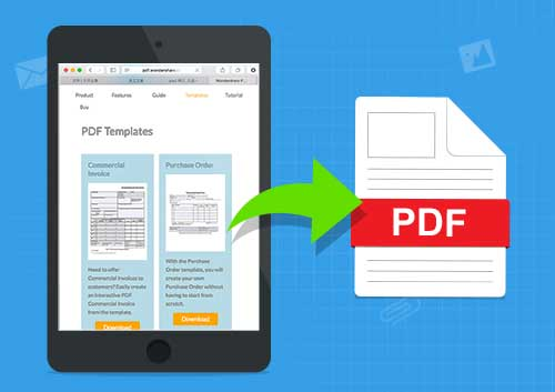 Convert Webpage to PDF on iPad