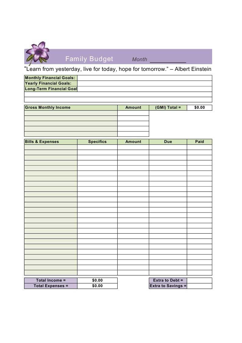 household budget template - solarfm.tk
