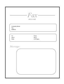 fax cover sheet  create edit fill and print fax cover sheet for resume template