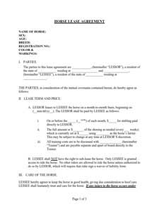 Lease Agreement Template: Free Download, Edit, Fill and Print