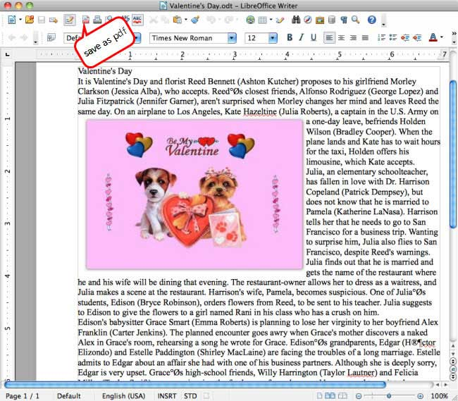PDF to libreoffice