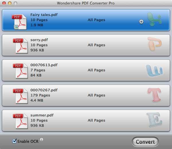 OCR pdf files mac