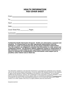 Fax Cover Sheet Free Download Create Edit Fill And Print