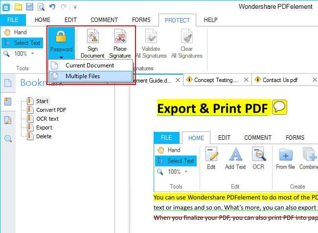 lock PDF files