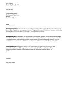 Cover Letter Template: Download, Create, Edit, Fill and Print