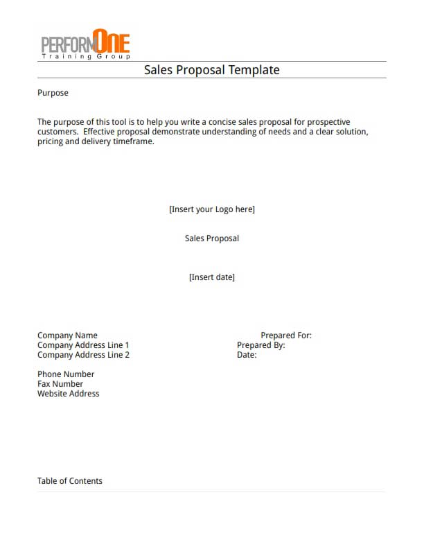 Proposal Template Free Download Create Edit Fill and Print – Free Sales Proposal Template