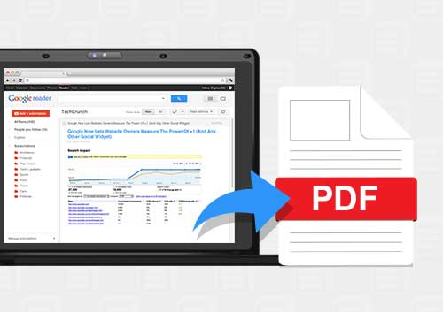 Save Google Reader Articles As PDF