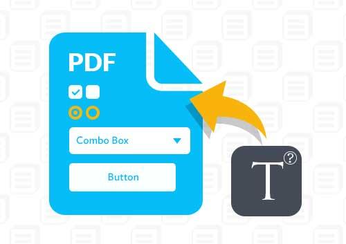 Write on A PDF form