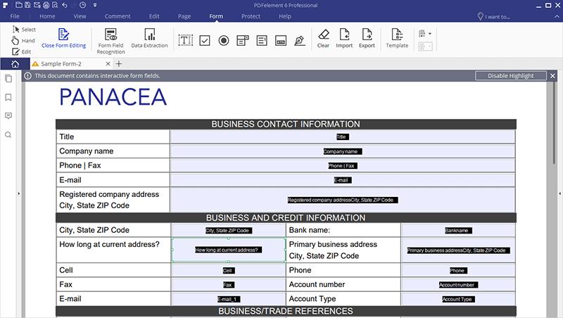 Crie Formulários PDF Preenchíveis