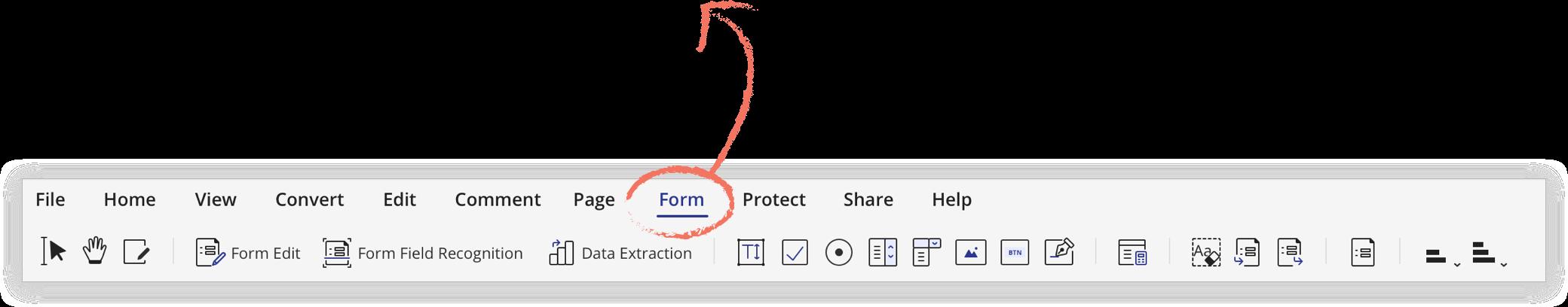 pdf form icon