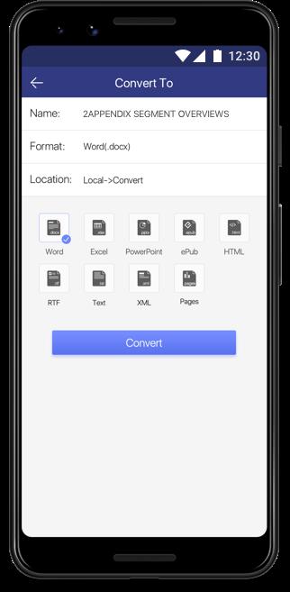 Convert PDF files