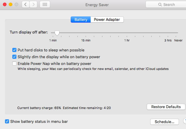 How to Fix Battery Issue on macOS 10 14