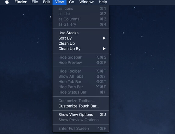 set up and customize stacks in os 10.14