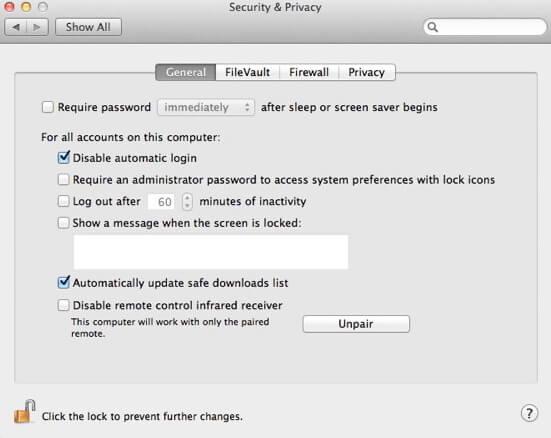 best macos.14 security settings