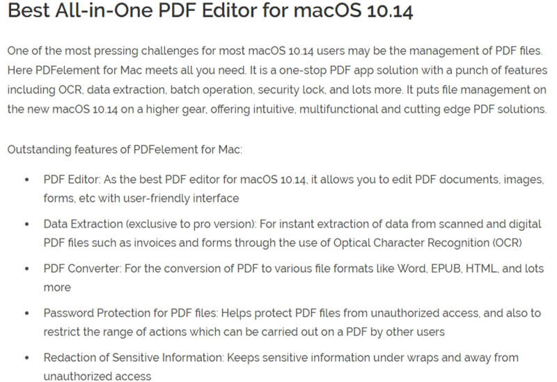 mac os 10.14 known issues
