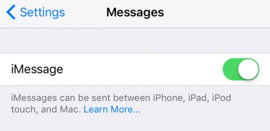fix imessage issue