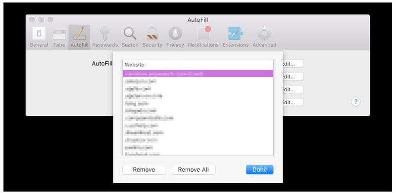 removing autofill's autocomplete