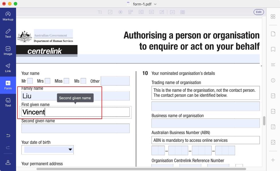 free pdf form editor