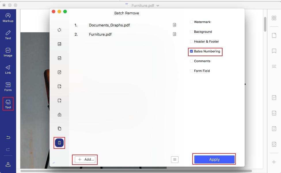 add bates numbers to pdf mac