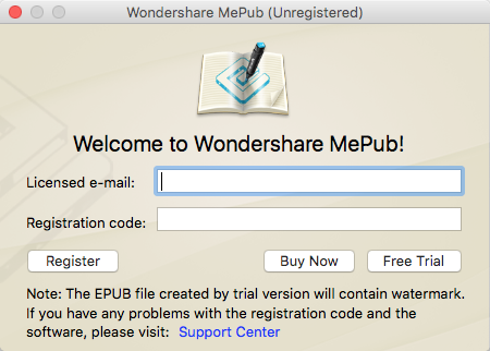 register mepub for mac