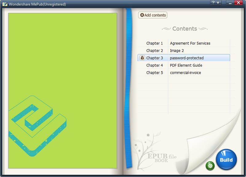 create epub file