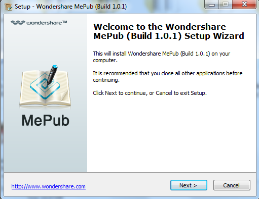 install mepub for windows